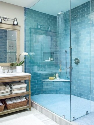 Cozy Coastal Style Nautical Bathroom Designs Ideas21