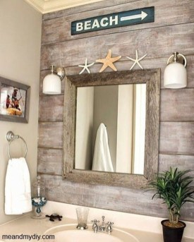 Cozy Coastal Style Nautical Bathroom Designs Ideas27