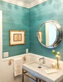 Cozy Coastal Style Nautical Bathroom Designs Ideas33