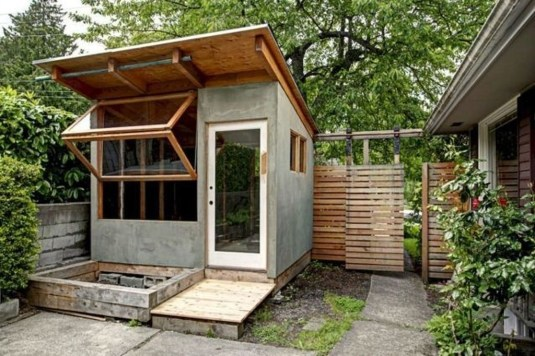 Fascinating Diy Backyard Studio Shed Remodel Design Decor Ideas43