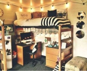 Lovely Dorm Room Organization Ideas On A Budget19