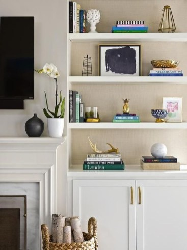 Stunning Diy Floating Shelves Living Room Decorating Ideas13
