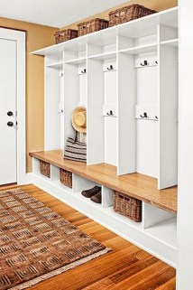Awesome Rustic Mudroom Bench Decorating Ideas On A Budget12
