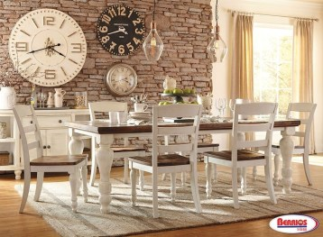 Captivating Farmhouse Dining Room Table Decorating Ideas19