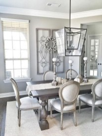 Captivating Farmhouse Dining Room Table Decorating Ideas43