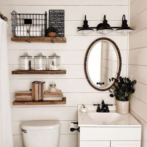 Cute Farmhouse Bathroom Remodel Ideas On A Budget14