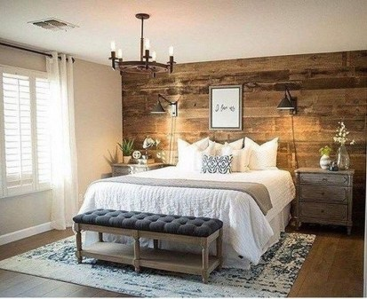 Inspiring Farmhouse Style Master Bedroom Decoration Ideas02