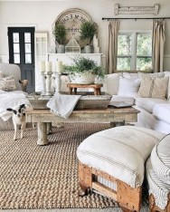 Splendid Farmhouse Living Room Design Decor Ideas02