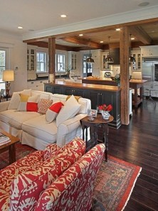 Splendid Farmhouse Living Room Design Decor Ideas35