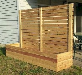Stylish Wooden Privacy Fence Patio Backyard Landscaping Ideas02