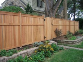 Stylish Wooden Privacy Fence Patio Backyard Landscaping Ideas22