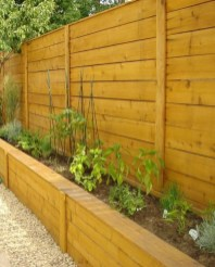 Stylish Wooden Privacy Fence Patio Backyard Landscaping Ideas25