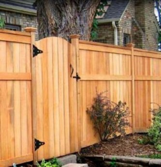 Stylish Wooden Privacy Fence Patio Backyard Landscaping Ideas38