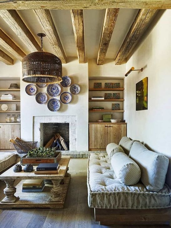 Amazing Living Rooms Design Ideas With Exposed Wooden Beams 16