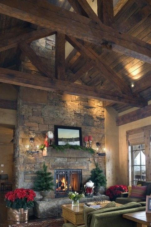 Amazing Living Rooms Design Ideas With Exposed Wooden Beams 37