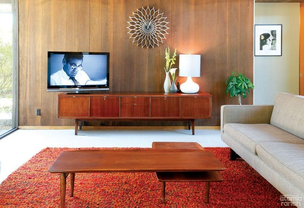 Elegant Midcentury Living Room Design Ideas05