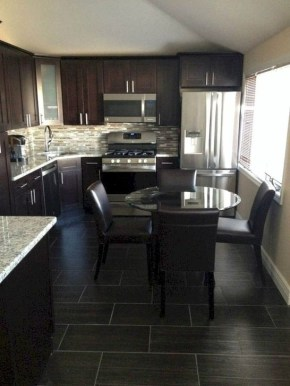 Magnficient Small Kitchens Ideas With Dark Cabinets03