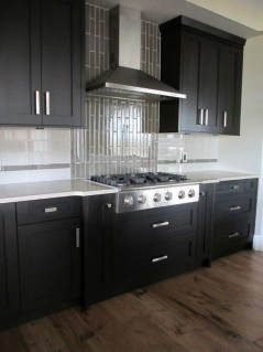 Magnficient Small Kitchens Ideas With Dark Cabinets13
