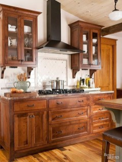 Magnficient Small Kitchens Ideas With Dark Cabinets15