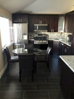 Magnficient Small Kitchens Ideas With Dark Cabinets36