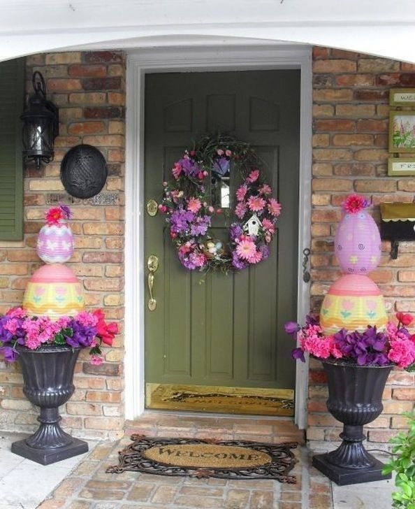 Charming Easter Ideas For Outdoor Decorations 43