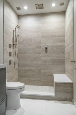 Cool Tile Pattern Design Ideas For Bathroom 16