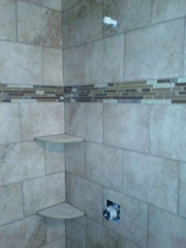Cool Tile Pattern Design Ideas For Bathroom 24