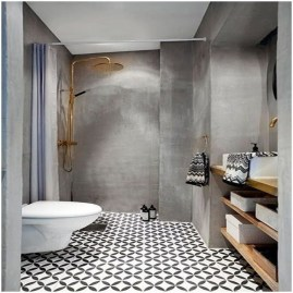 Cool Tile Pattern Design Ideas For Bathroom 36