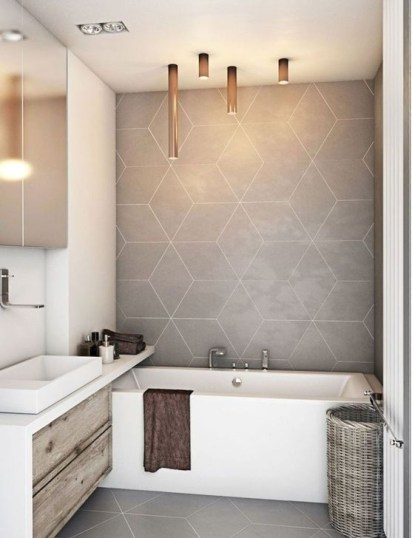 Cool Tile Pattern Design Ideas For Bathroom 41