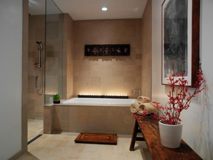 Cozy Spa Bathroom Decorating Ideas 36