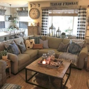 Gorgeous Farmhouse Living Room Design Ideas 22