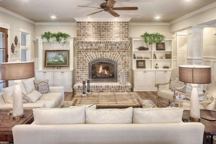 Gorgeous Farmhouse Living Room Design Ideas 46