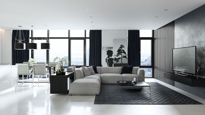 Relaxing Black And White Decor Ideas For Your Room 16