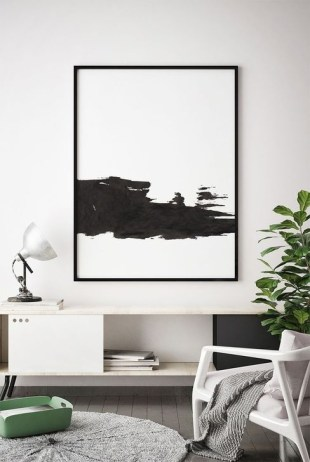 Relaxing Black And White Decor Ideas For Your Room 17