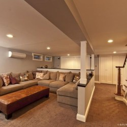 Wonderful Basement Remodel Ideas Into An Attractive Living Room 05