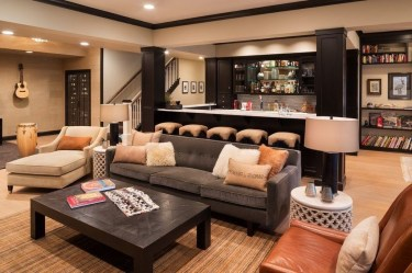 Wonderful Basement Remodel Ideas Into An Attractive Living Room 19