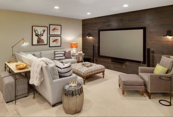 Wonderful Basement Remodel Ideas Into An Attractive Living Room 45