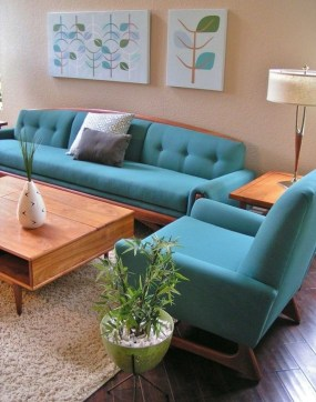 Enchanting Turquoise Living Room Ideas 06