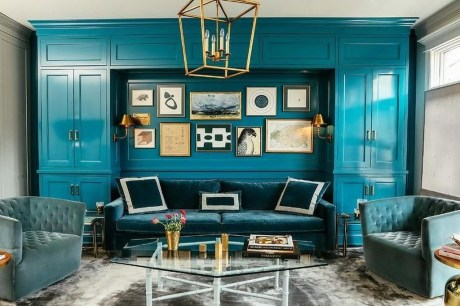 Enchanting Turquoise Living Room Ideas 14