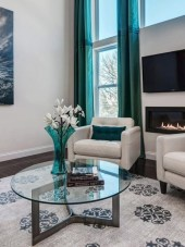 Enchanting Turquoise Living Room Ideas 19