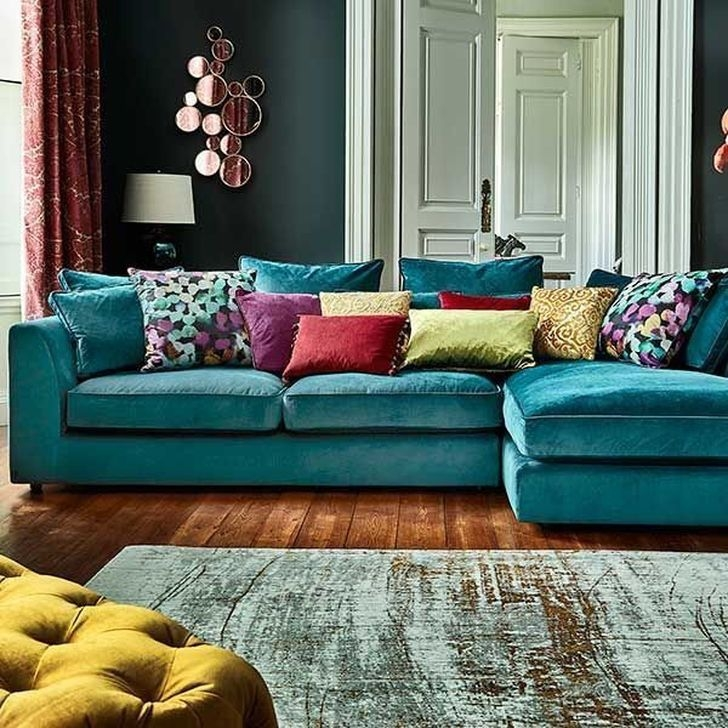 Enchanting Turquoise Living Room Ideas 20