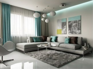 Enchanting Turquoise Living Room Ideas 32