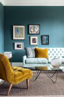 Enchanting Turquoise Living Room Ideas 34