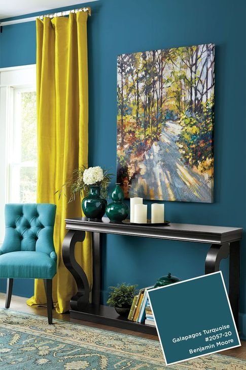 Enchanting Turquoise Living Room Ideas 39