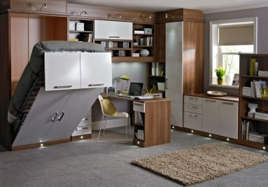 Minimalist Small Space Ideas For Bedroom And Home Office 19