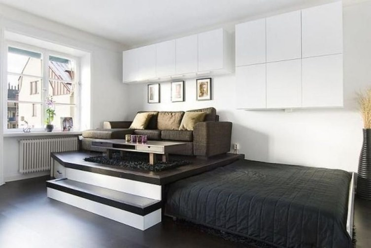 Minimalist Small Space Ideas For Bedroom And Home Office 44