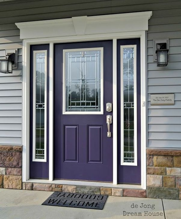 Outstanding Colorful Door Ideas For House 11