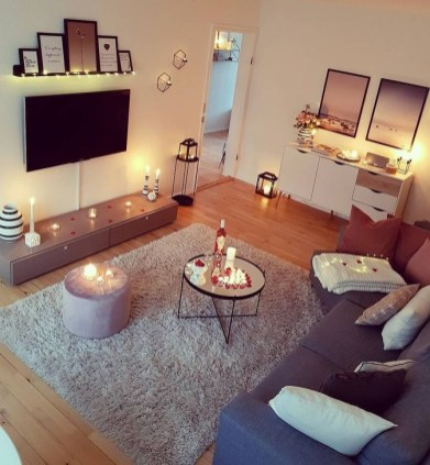 Popular Apartment Living Room Design Ideas For Valentines Day 31