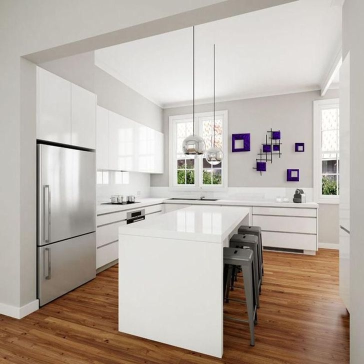 Awesome White And Clear Kitchen Design Ideas 03