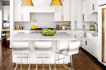 Awesome White And Clear Kitchen Design Ideas 12